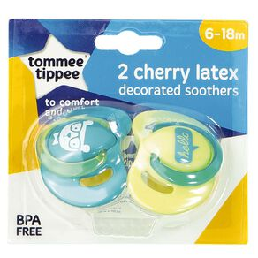Tommee Tippee Latex Soother 6-18m 2 Pack