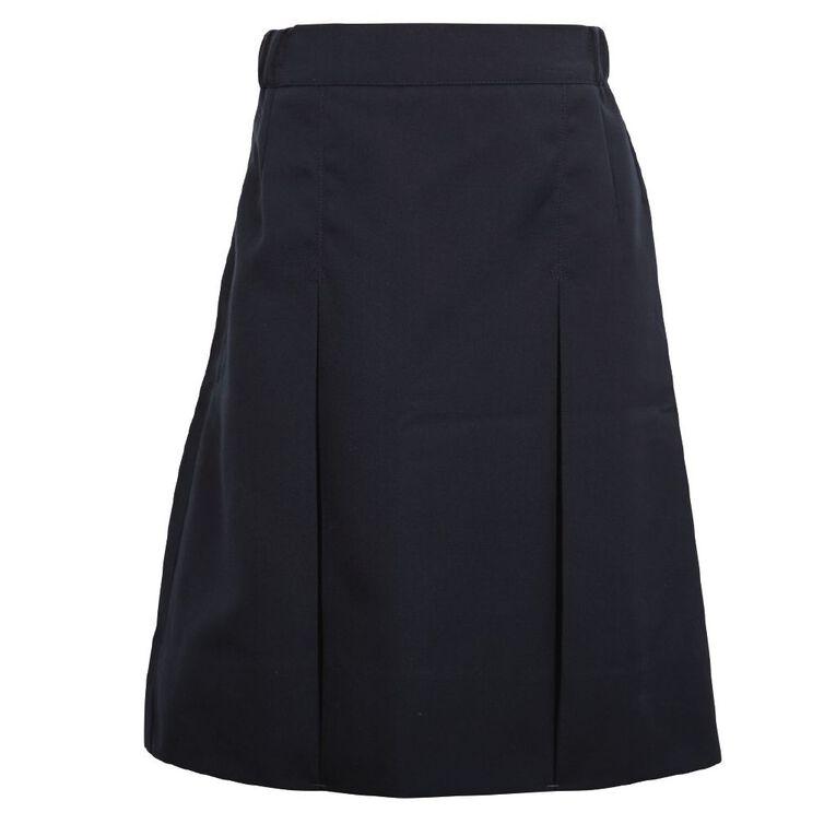 Schooltex Women's Two Pleat Skirt, Navy, hi-res