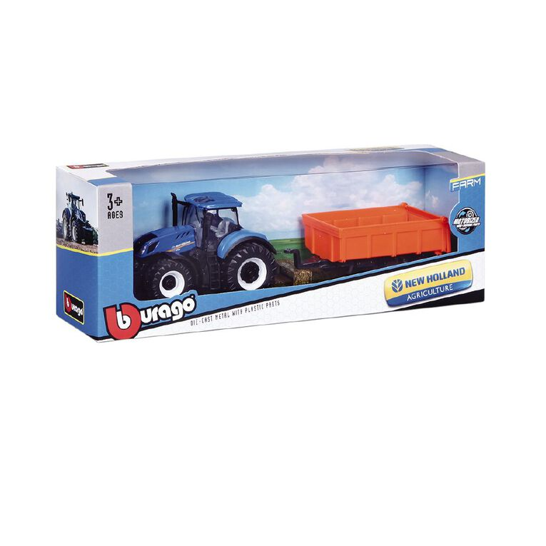 Bburago New Holland 10cm Farm Friction Tractor with Trailer Assorted, , hi-res