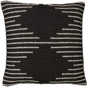 Living & Co Diamond Border Cushion Black 45cm x 45cm