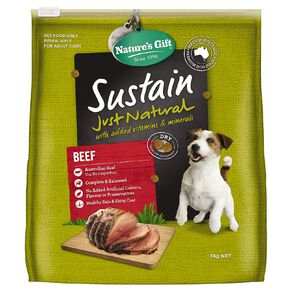 Nature's Gift Sustain Beef Dog Food 6kg