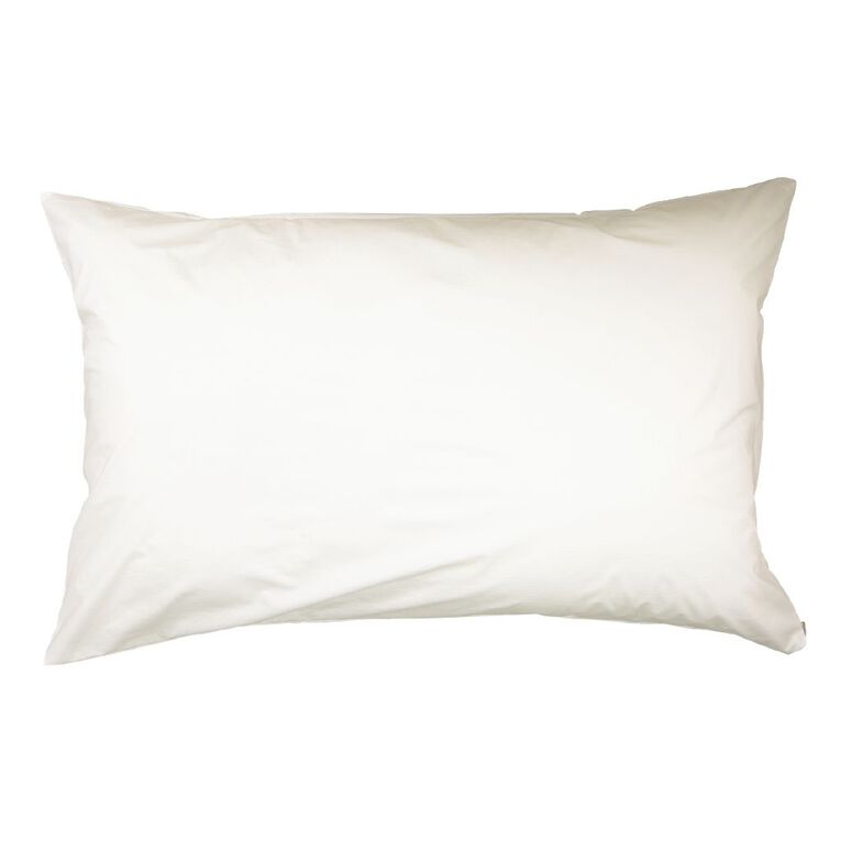 Living & Co Hotel Collection Pillow Protector Tencel White 48cm x 73cm, White, hi-res