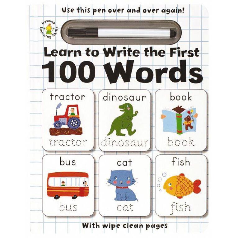Write & Wipe Clean: 100 Words, , hi-res