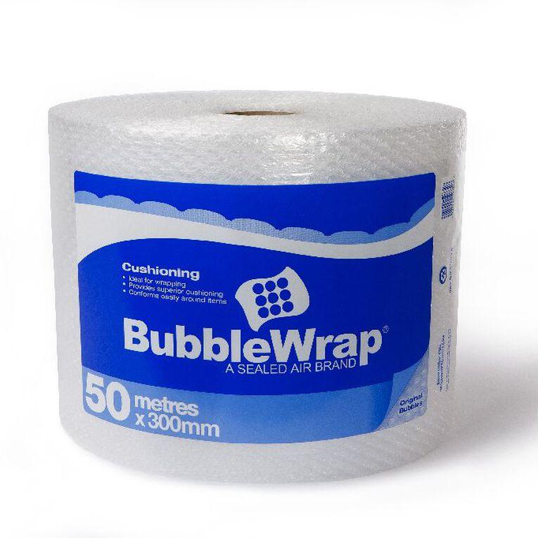 Bubble Wrap Roll 300mm x 50m Clear, , hi-res