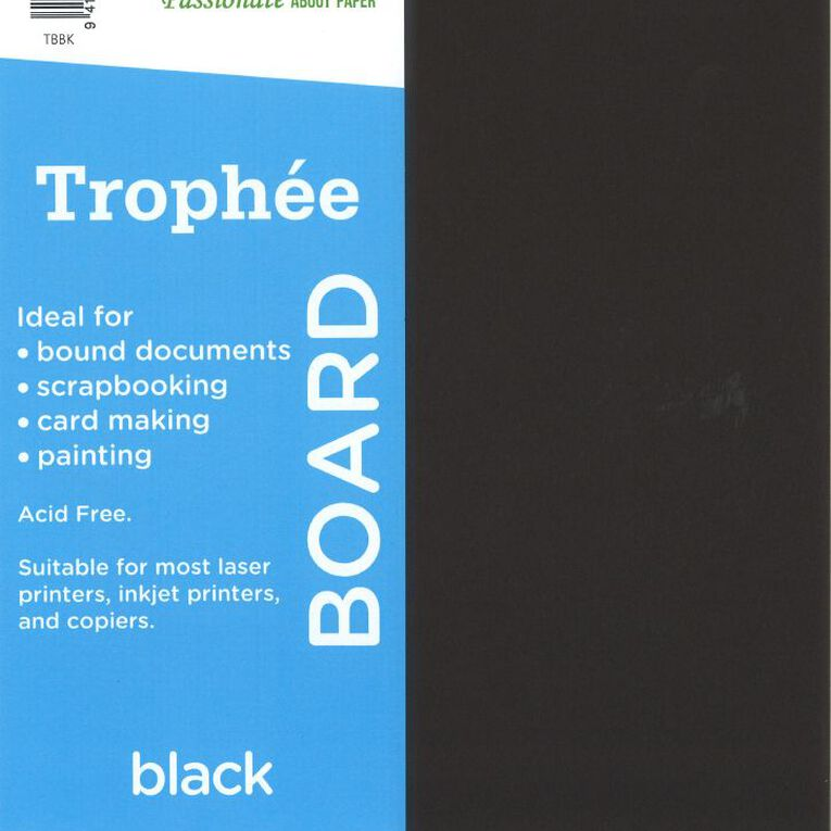 Trophee Board 210gsm 12 Pack Black A4, , hi-res