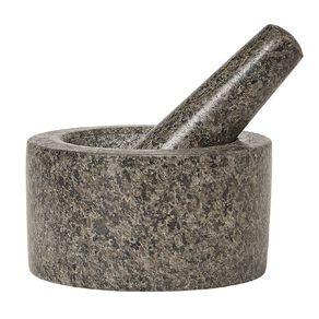 Living & Co Mortar & Pestle Marble Black