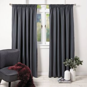 Living & Co Demi Curtains Charcoal