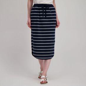 H&H Women's Knit Scoop Hem Midi Skirt