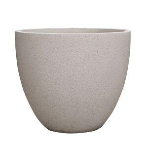 Kiwi Garden Lightweight Cement Egg Planter White 50cm