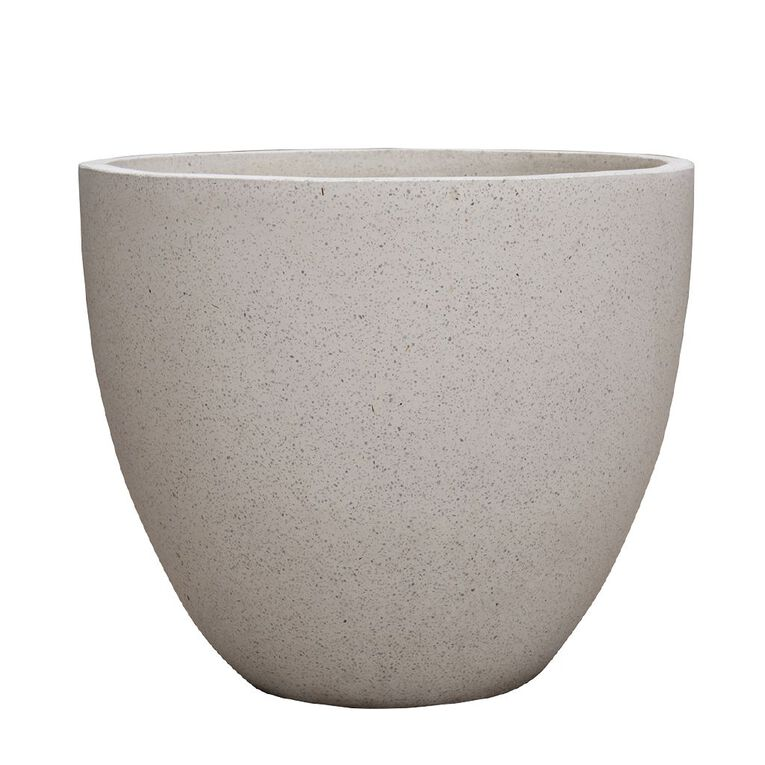 Kiwi Garden Lightweight Cement Egg Planter White 37cm, , hi-res