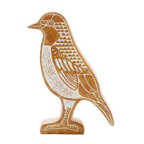 Living & Co Robin Ornament Carving 16.5cm x 3.7cm x 24.3cm