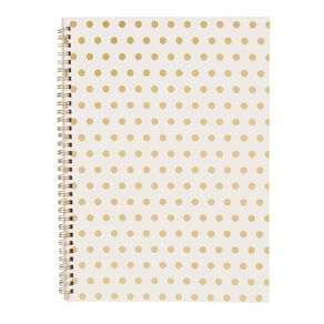 Uniti Kiwi Breeze Notebook Softcover With Elastic Gold Dots White A4
