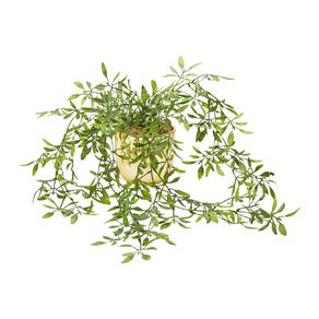 Living & Co Artificial Hanging Plant Gold