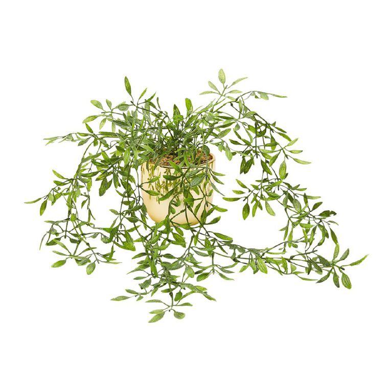 Living & Co Artificial Hanging Plant Gold, , hi-res