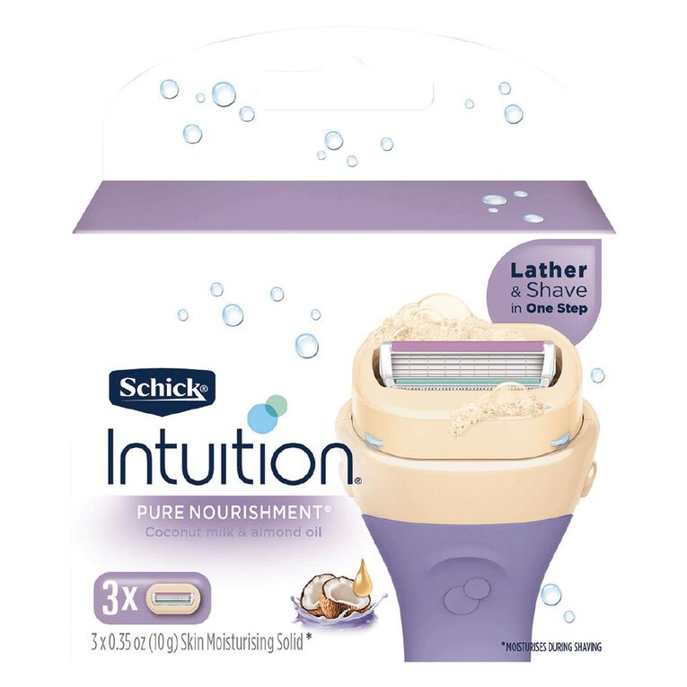 Schick Intuition Pure Nourishment Blades 3 Pack, , hi-res