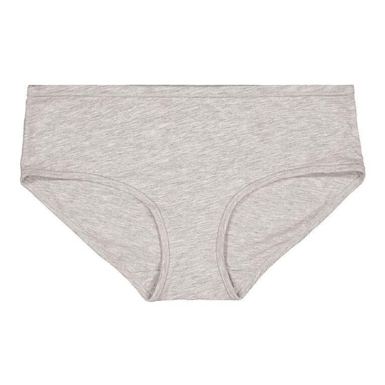 H&H Women's Cotton Comfort Boyleg Briefs, Grey, hi-res