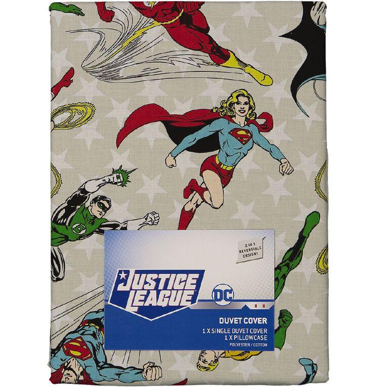 DC Duvet Cover Set Heroes Blue Single, Blue, hi-res