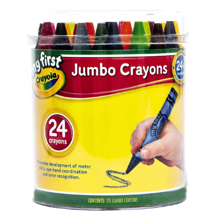 Crayola My First Jumbo Crayons Tub 24 Pack, , hi-res