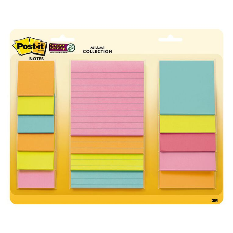 Post-It Super Sticky Miami Combo Pack, , hi-res