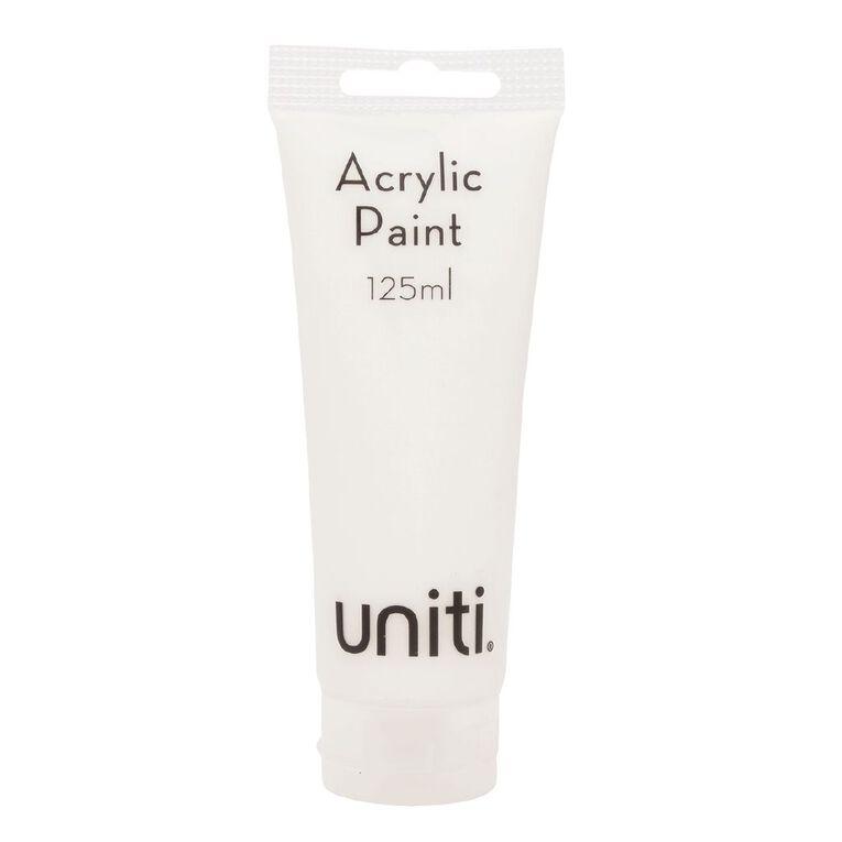 Uniti Acrylic Tube White 125ml, , hi-res