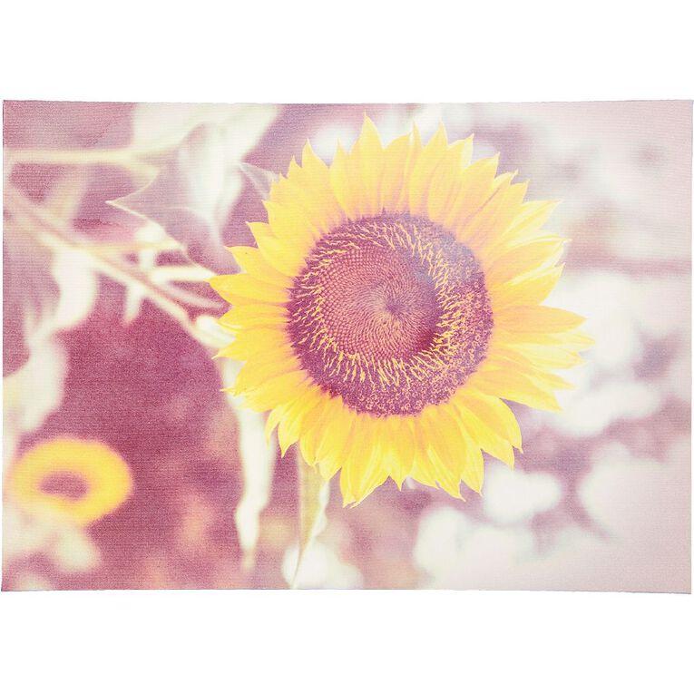 Living & Co Sunflower Canvas 70 x 50 x 1.8cm, , hi-res