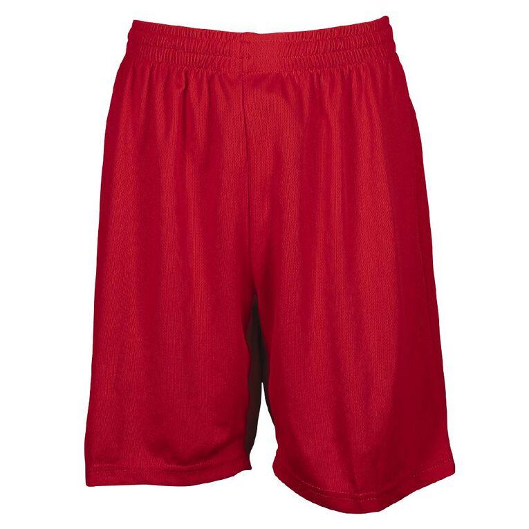 Schooltex Breezeway Shorts, Red, hi-res