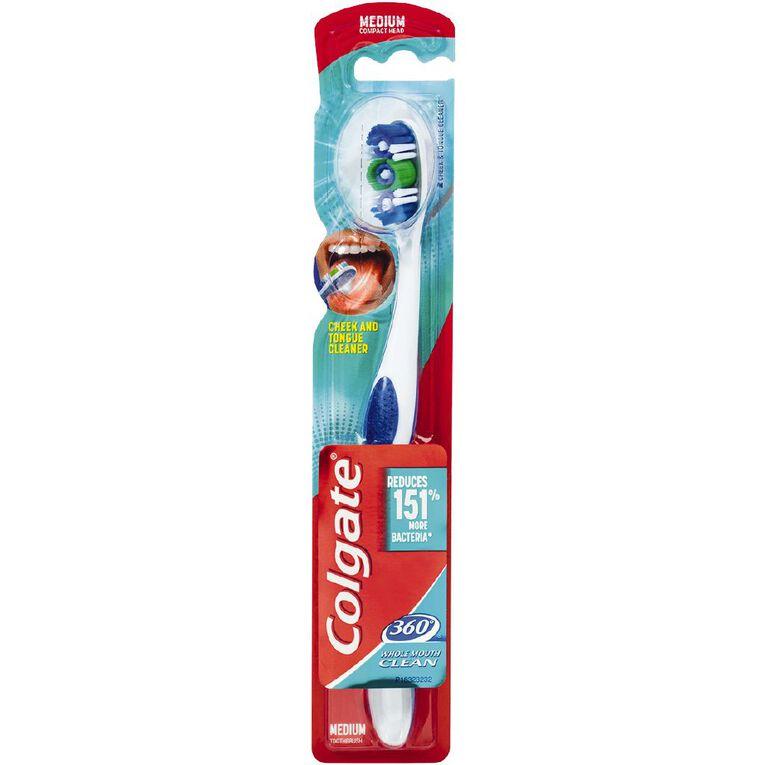 Colgate Toothbrush 360 Degree Medium Assorted, , hi-res
