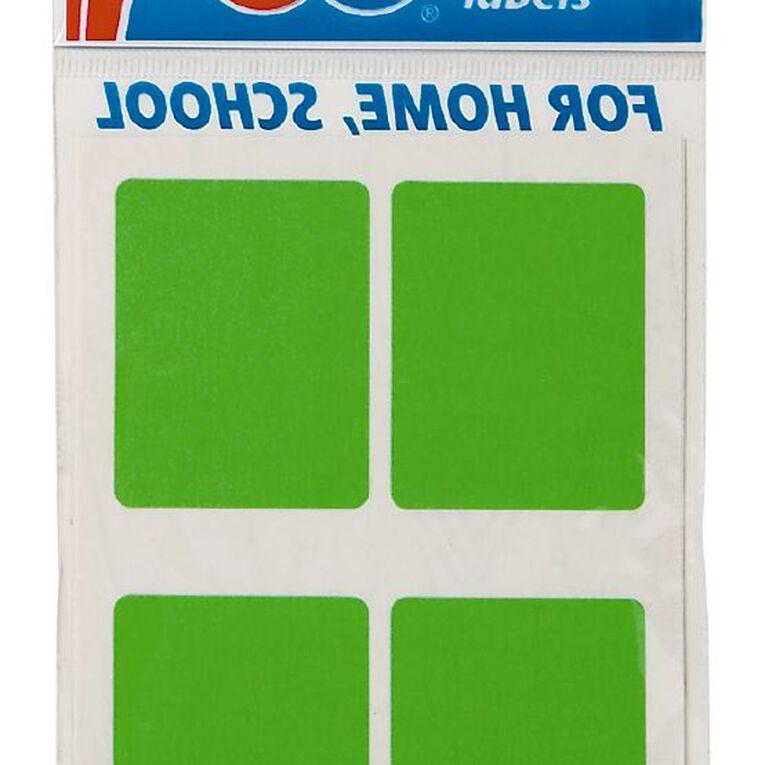 Quik Stik Labels Mr3545 28 Pack Fluoro Green, , hi-res