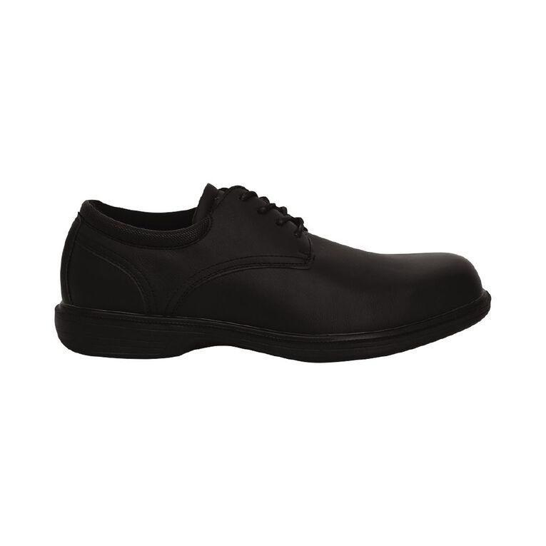 H&H Ross Slip Resistant Work Shoes, Black, hi-res