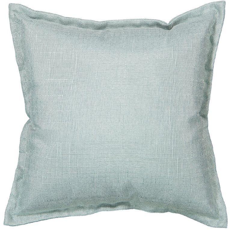 Living & Co Slub Cushion Aqua 38cm x 38cm, Aqua, hi-res image number null