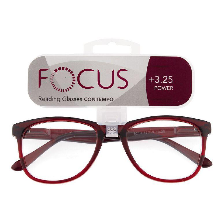 Focus Reading Glasses Contempo 3.25, , hi-res