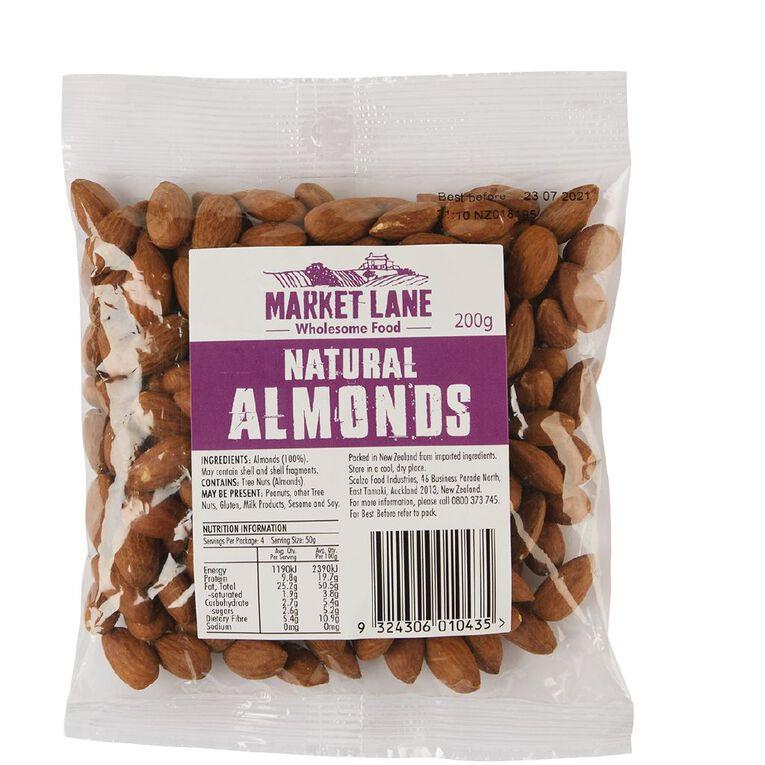 Market Lane Natural Almonds 200g, , hi-res