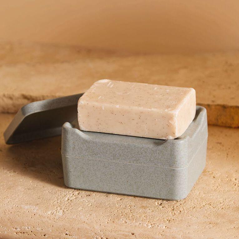 Living & Co Bamboo Soap Caddy Green, , hi-res
