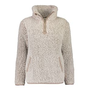 H&H Love Your Planet Women's Sherpa Pull Over Lounge Top