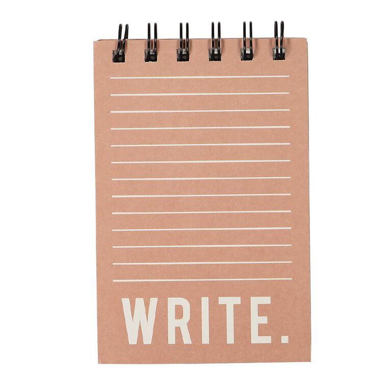 Uniti Craft Spiral Notepad Pink, , hi-res