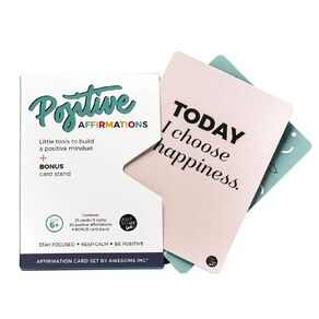 Positive Affirmation Card Set with Display Stand