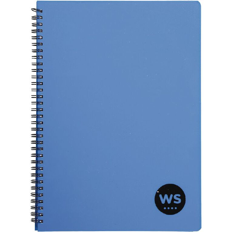 WS Notebook PP Wiro 200 Pages Soft Cover Blue A4, , hi-res