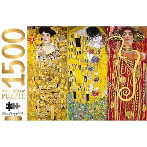 Hinkler Mindbogglers Gold 1500 Piece Puzzle Klimt Collection