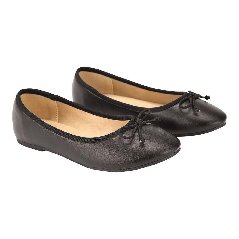 Young Original Simple Ballet Shoes, Black, hi-res