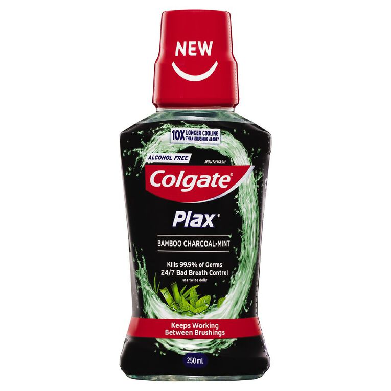 Colgate Plax Mouthwash Bamboo Charcoal 250ml, , hi-res