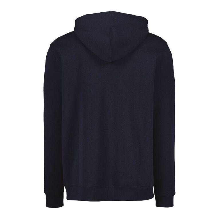 H&H Men's Zip Thru Hooded Sweatshirt, Navy, hi-res