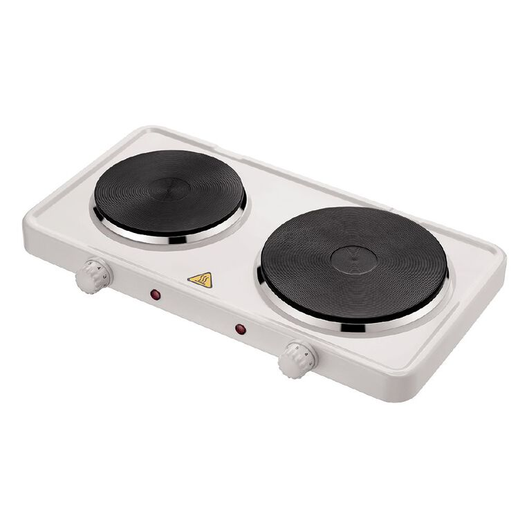 Living & Co Double Hot Plate 2300w White, , hi-res
