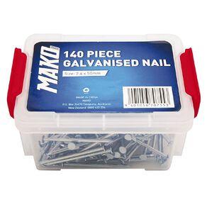 Mako Galvanised Nails 140 Piece