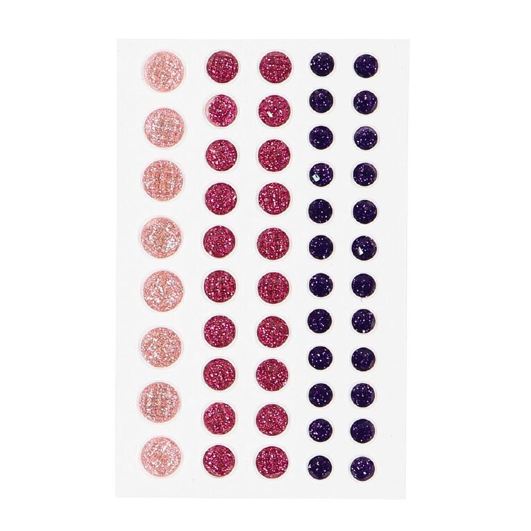 Uniti Bling Crystal Sticker 52 Pieces Red, , hi-res