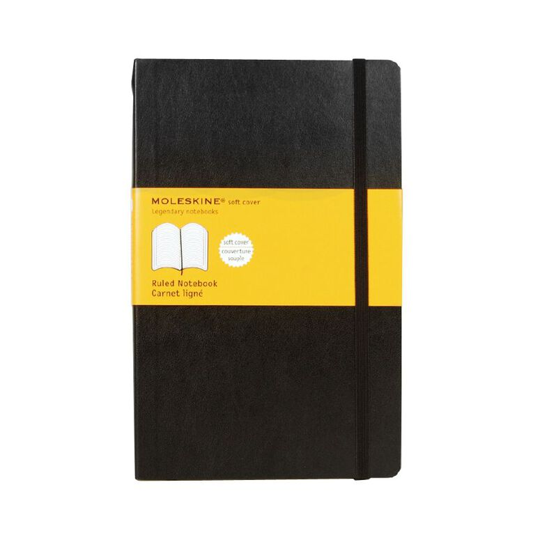 Moleskine Classic Soft Cover Large Notebook Ruled Black, , hi-res