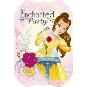 Disney Beauty and the Beast Invitations 8 Pack