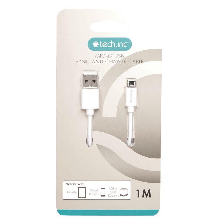 Tech.Inc Micro USB Cable 1m White, , hi-res
