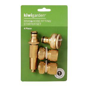 Kiwi Garden Brass Hose Fitting Starter Set