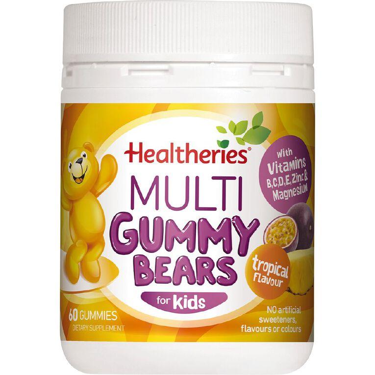 Healtheries Kids Multi Gummies Tropical 60s, , hi-res