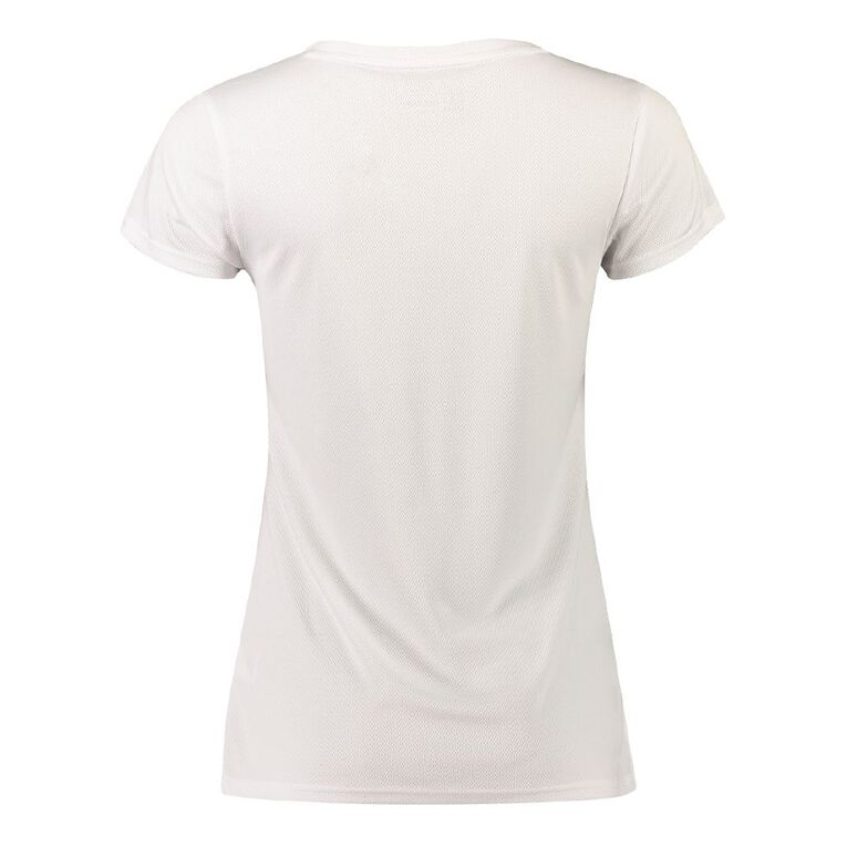 Active Intent Women's Cooldry Tee, White, hi-res